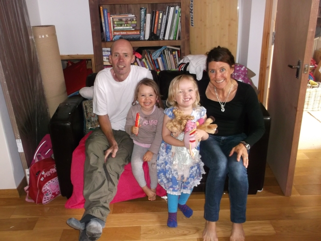 Stu, Anna, Maddy and Sam August 2014