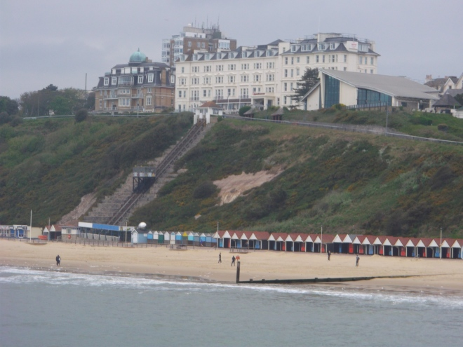 Our hotel overlooking the beach. We had a little cottage in the annexe to the right.