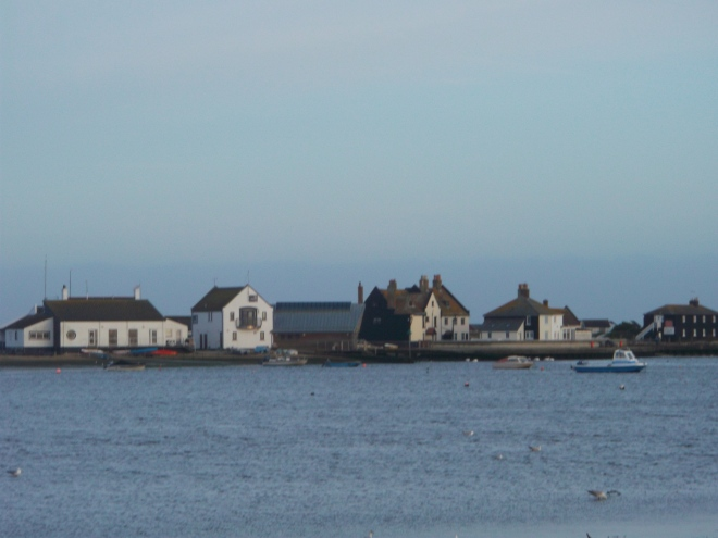 The view across to Mudeford Spit from the front of the restaurant