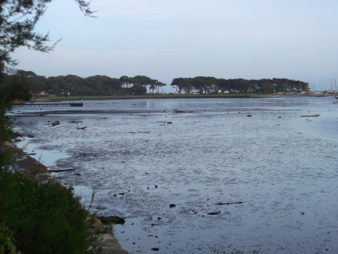 Mudeford Flats at dusk